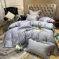 Комплект постельного белья двуспальный LUX однотонный в подарочной коробке