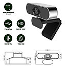 Full HD USB веб камера для дистанционного обучения, видеоконференций,Skype, стрима и т.п., фото 4