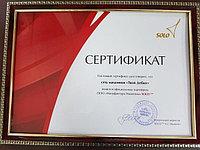Сертификат официального партнера Solo