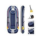 Лодка надувная BESTWAY Hydro-Force Treck X3 Set 61110 (307х126см, Винил, Трёхкамерная)