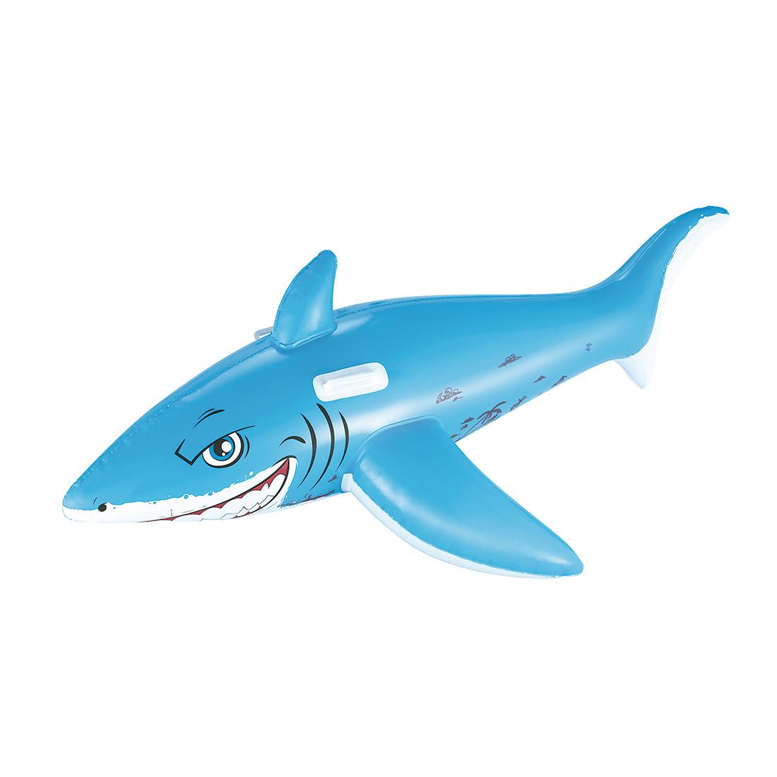 Надувная игрушка для катания верхом BESTWAY Большая Акула с ручками 41032 BW (183х102см, Винил)