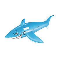 Надувная игрушка для катания верхом BESTWAY Большая Акула с ручками 41032 BW (183х102см, Винил), фото 1