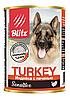 Влажный корм для собак всех пород и возрастов Blitz Tyrkey c индейкой и печенью