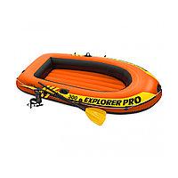 Лодка надувная INTEX Exlorer PRO 300 set 6+ 58358NP (244х117см, Винил, Трёхкамерная)