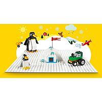 LEGO Classic 11010 Белая базовая пластина, конструктор ЛЕГО