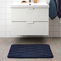 УППВАН Коврик для ванной, темно-синий, 50x80 см