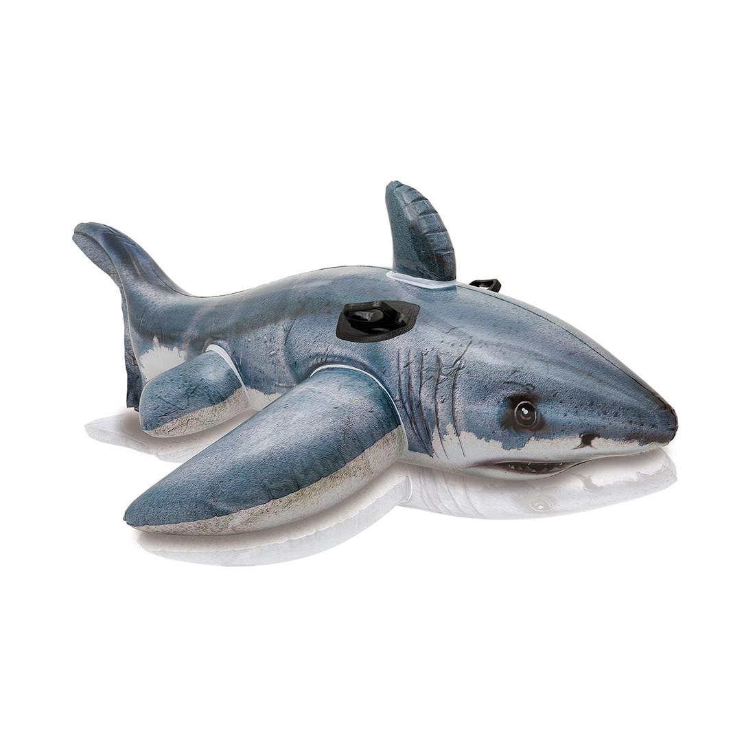 Надувная игрушка для катания верхом Большая Белая Акула INTEX 57525NP Винил