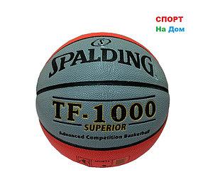 Мяч баскетбольный Spalding TF-1000 SUPERIOR (Серо-красный)