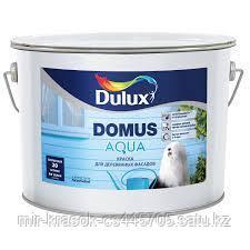Краска Dulux DOMUS AQUA для деревянных фасадов полуматовая BW 10л