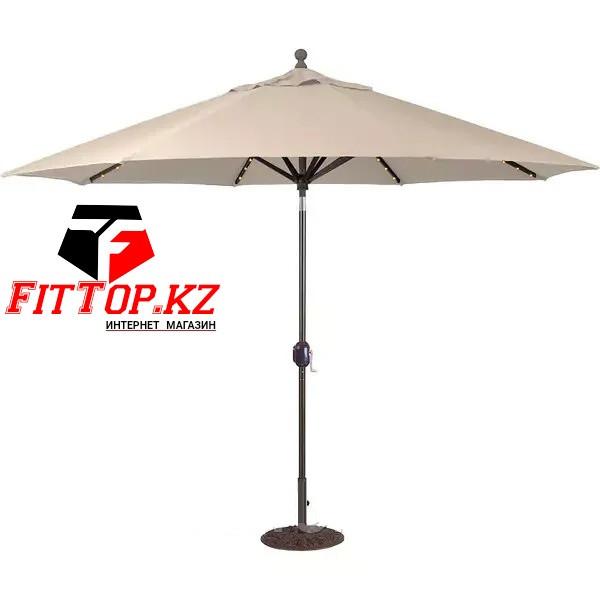 Зонт уличный светящейся на солнечных батареях D-2.7м