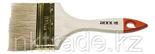 Кисть флейцевая DEXX, деревянная ручка, натуральная щетина, индивидуальная упаковка, 100 мм, 0100-100_z02