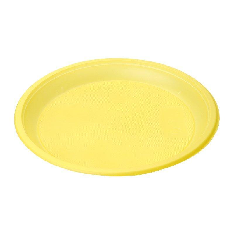 Тарелка d 210мм, жёлт., ПС, 12 шт