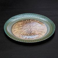 Тарелка 'Морион', d21 см, цвет голубой с золотом
