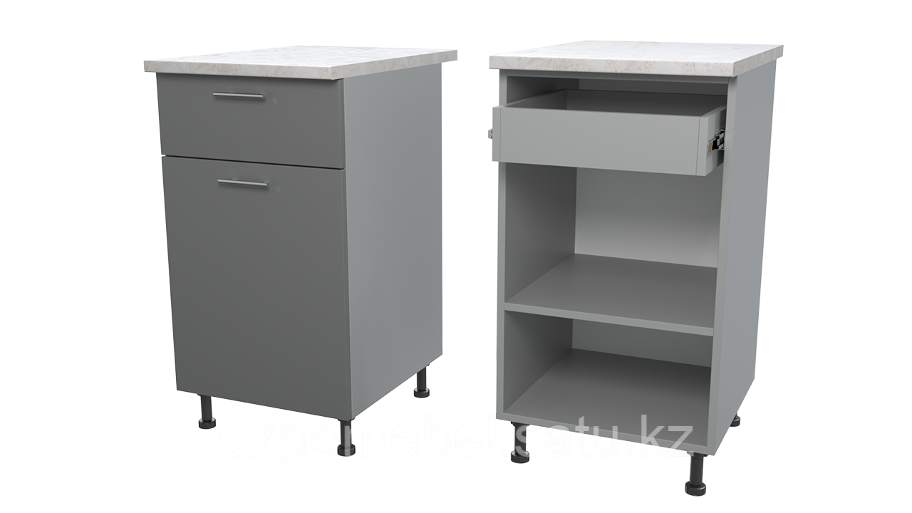 Шкаф с полкой и одним ящиком 450 (Нижний модуль)
