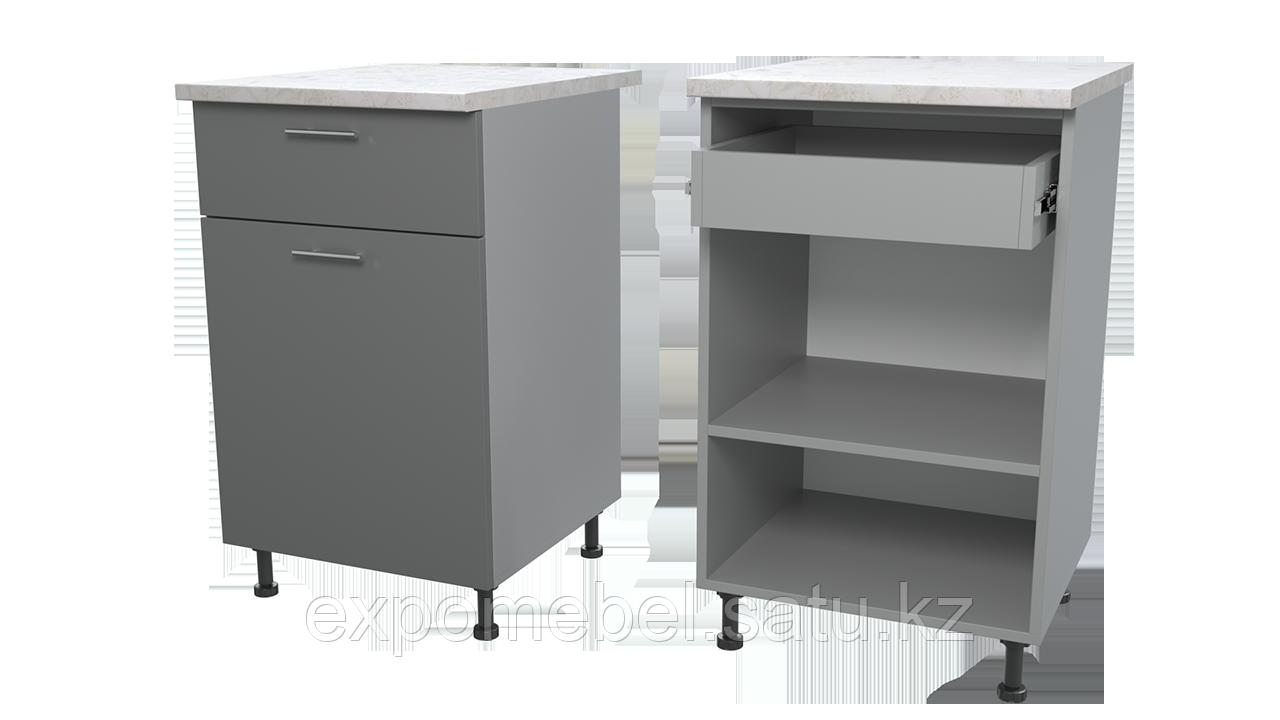 Шкаф с полкой и одним ящиком 500 (Нижний модуль)