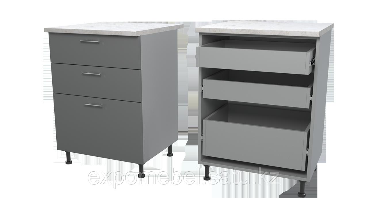 Шкаф с тремя ящиками 600 (Нижний модуль)