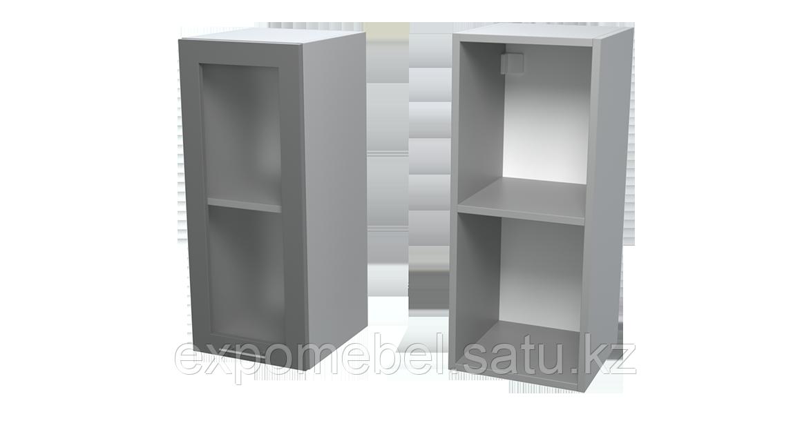 Шкаф с полкой и стеклом 300 (Верхний модуль)