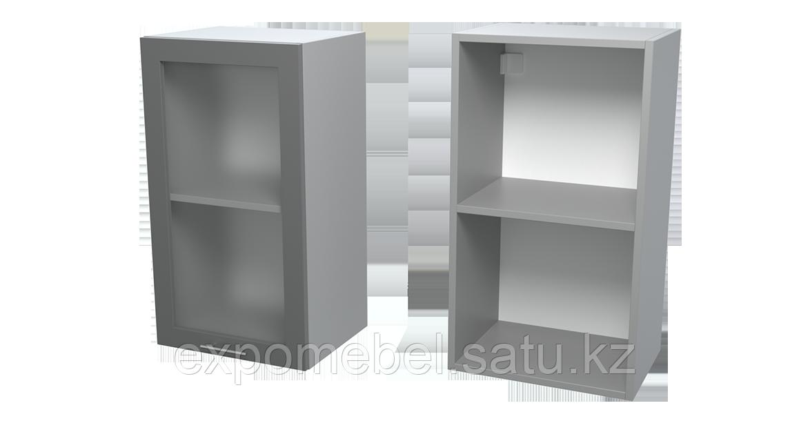Шкаф с полкой и стеклом 400 (Верхний модуль)