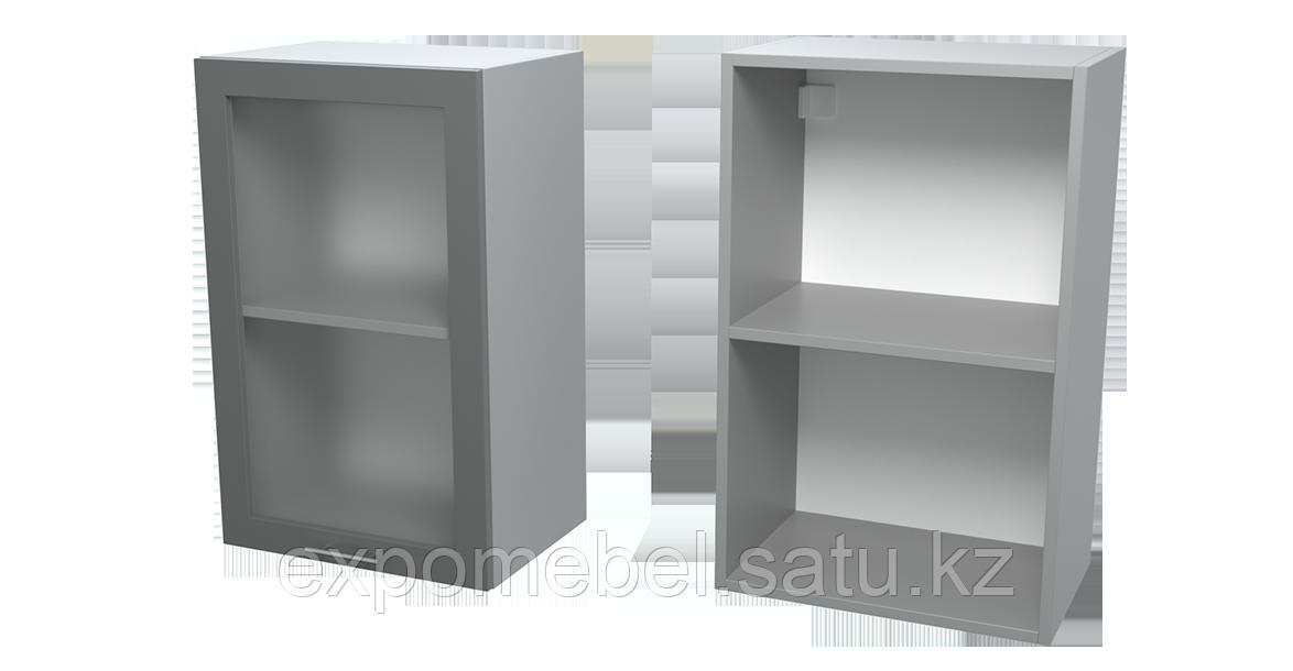 Шкаф с полкой и стеклом 450 (Верхний модуль)