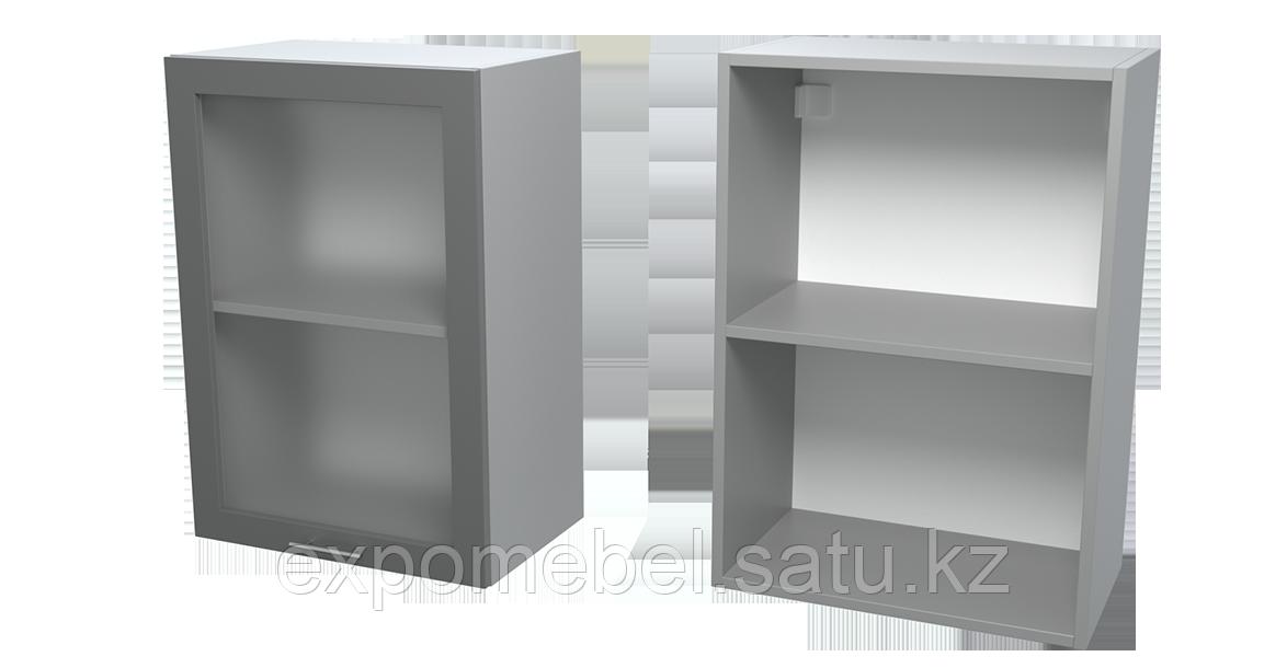 Шкаф с полкой и стеклом 500 (Верхний модуль)