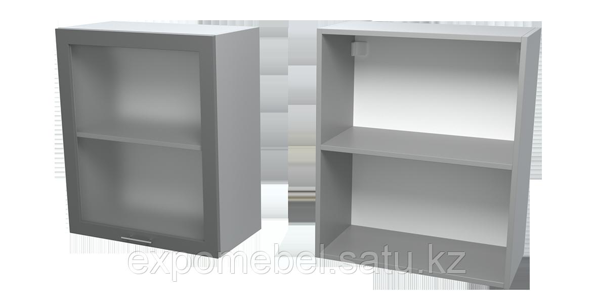 Шкаф с полкой и стеклом 600 (Верхний модуль)