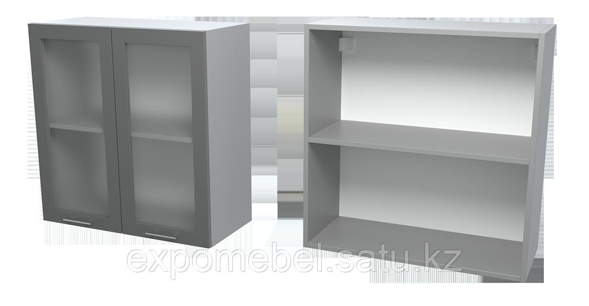 Шкаф с полкой и стеклом 700 (Верхний модуль)