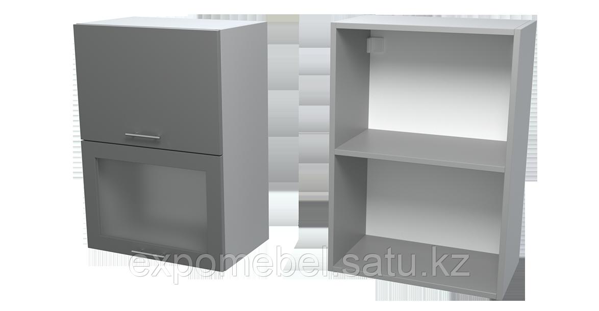 Шкаф горизонт. 2 фасада + 1 стекло 500 (Верхний модуль)