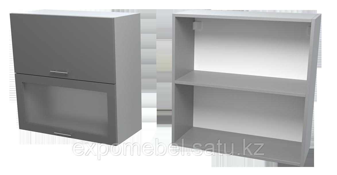 Шкаф горизонт. 2 фасада + 1 стекло 700 (Верхний модуль)
