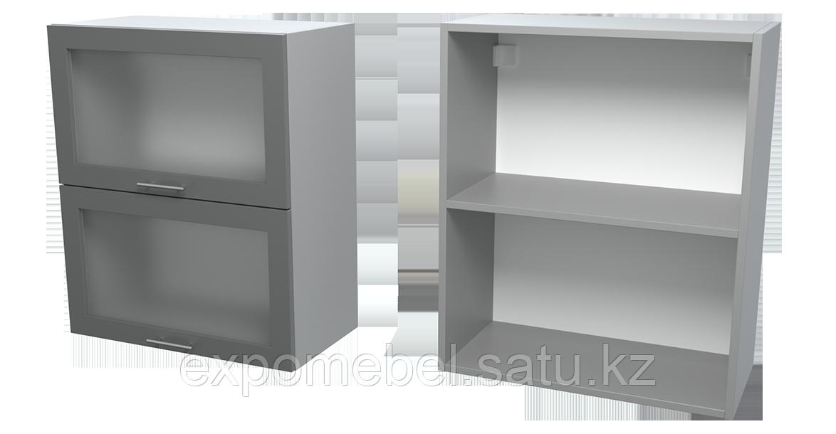 Шкаф горизонт. 2 фасада стекло 600 (Верхний модуль)