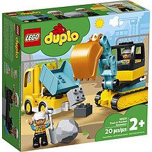 10931 Lego Duplo Грузовик и гусеничный экскаватор, Лего Дупло