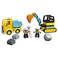 10931 Lego Duplo Грузовик и гусеничный экскаватор, Лего Дупло, фото 3