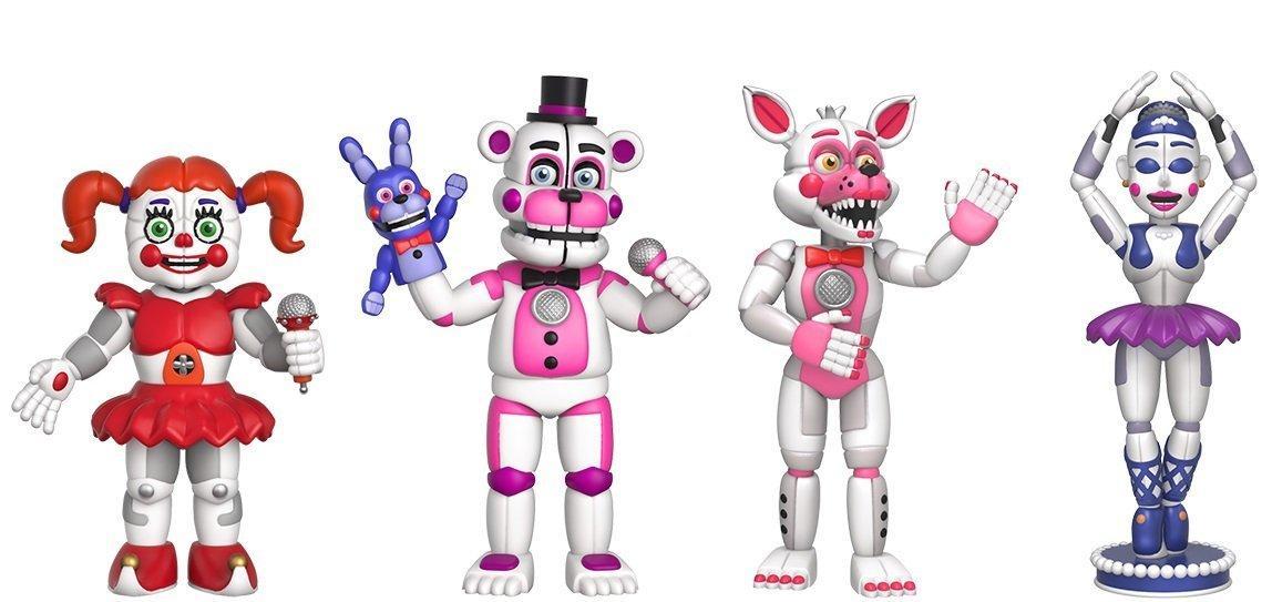 Five Nights at Freddy's Набор из 4 виниловых фигурок (Sister Location)