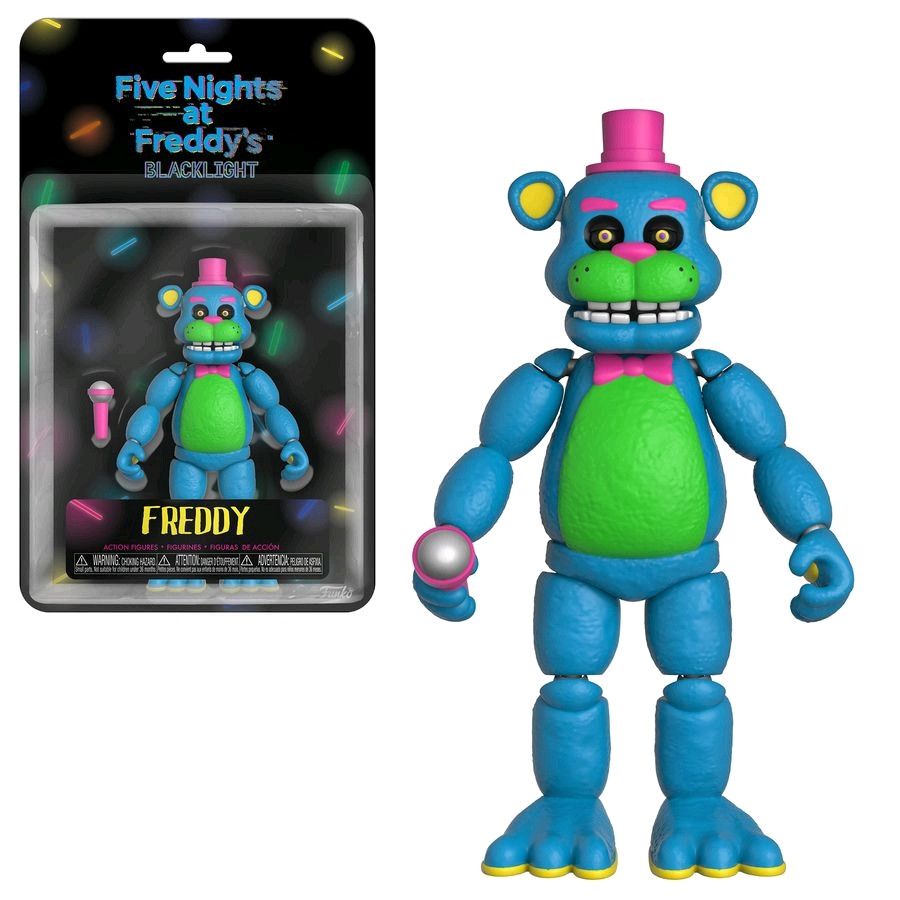 "Five Nights at Freddy's ""Blacklight"" Коллекционная Фигурка Неоновый Фредди"