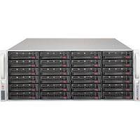 "Supermicro CSE-846BE1C-R1K28B chassis, 4U, 24 x 3.5"" 12G SAS3/SATA hot-swap bays, single expander, 7 FHFL"