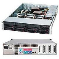 "Supermicro CSE-825TQC-600LPB chassis, 2U, 8 x 3.5"" hot-swap SAS/SATA bays, 7 Low Profile Expansions Slots,"