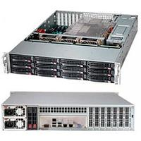 """Supermicro chassis CSE-826BE1C4-R1K23LPB, 2U, Dual and Single Intel and AMD CPUs, 2.12 x 3.5"""" hot-swap"""
