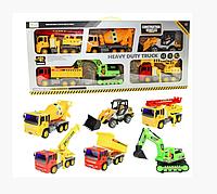 Детский набор строительных машин 6 в 1
