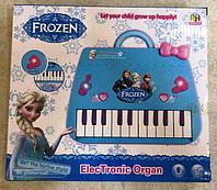 Детское пианино Холодное сердце голубое