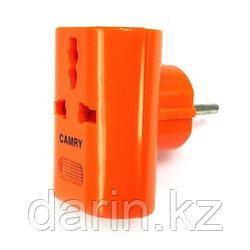 Тройник электрический универсальный оранжевый Camry
