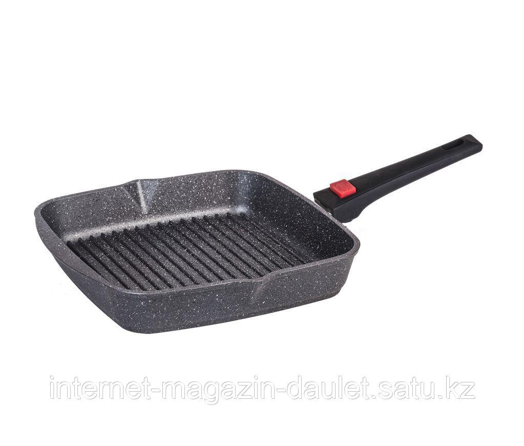 Сковорода-гриль квадр. 28*28 Гранит со съёмной ручкой