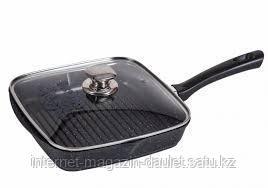 Сковорода-гриль «Гранит» — 24*24 см. со стек.крышкой