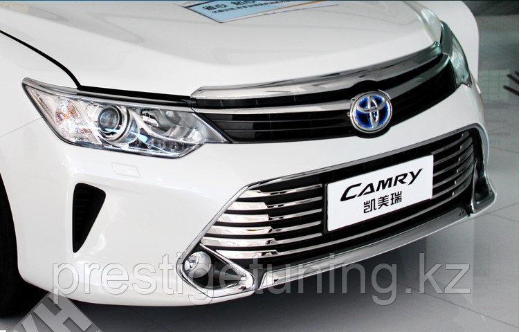 Хром накладка на главную решетку Camry V55