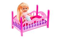Кукла пупс с кроваткой в наборе