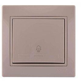 Кнопка звонка крем со вставкой Мира 701-0303-103