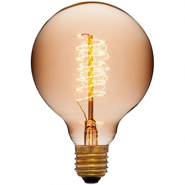 053-655 Лампа G95 PLUS 48F5 40W E27 Цвет Золотой