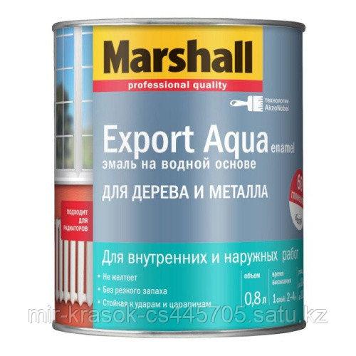 Эмаль Marshall EXPORT AQUA глянцевая белая 2,5л