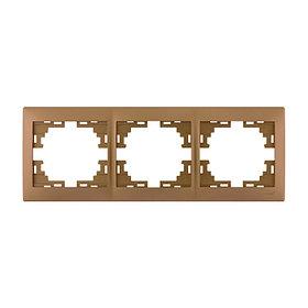 Рамка 3-ая горизонтальная б/вст. металл золото Мира 701-1300-148