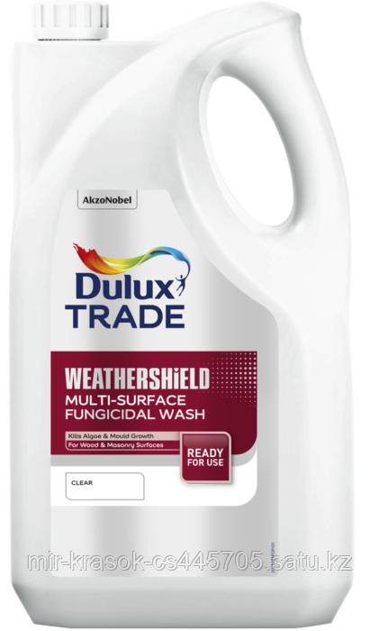 Биозащитный раствор Dulux Trade WEATHERSHIELD MULTY-SURFACE FUNGICIDAL WASH концентрированный 5л