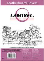 Обложка картонная с тиснением под кожу белая Lamirel Delta А4 100 шт.