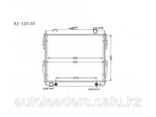 Радиатор охлаждения 4,7 на Toyota  4Runner 2003-2009